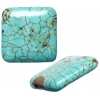 Turquoise 20x6mm Square Shape Stabilized Green
